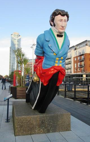 Figurehead of HMS Vernon in Gunwharf Quays