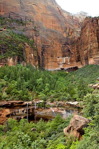 Upper & Lower Emerald Pools falls