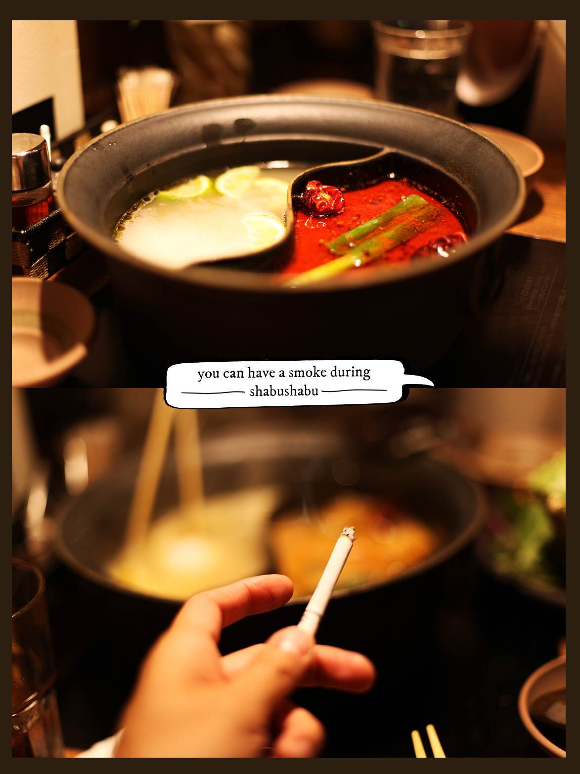 smoke during shabushabu