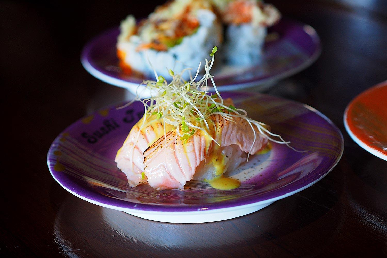 Sydney Food Blog Review of Sushi Train, Neutral Bay: Aburi Salmon