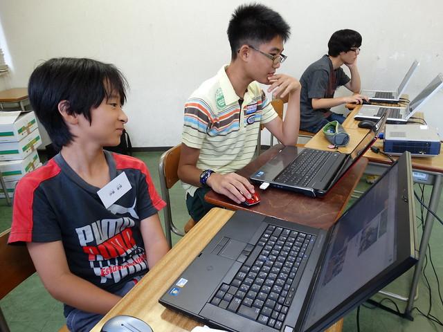 ファミリオ夏期中高プログラミング教室 お互いに刺激をうけながら上達