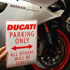 Sweet new Ducati metal signs came in! @ducatiusa @eurocyclesoftampa   #ducati #ducatitampa #899Panigale #Panigale