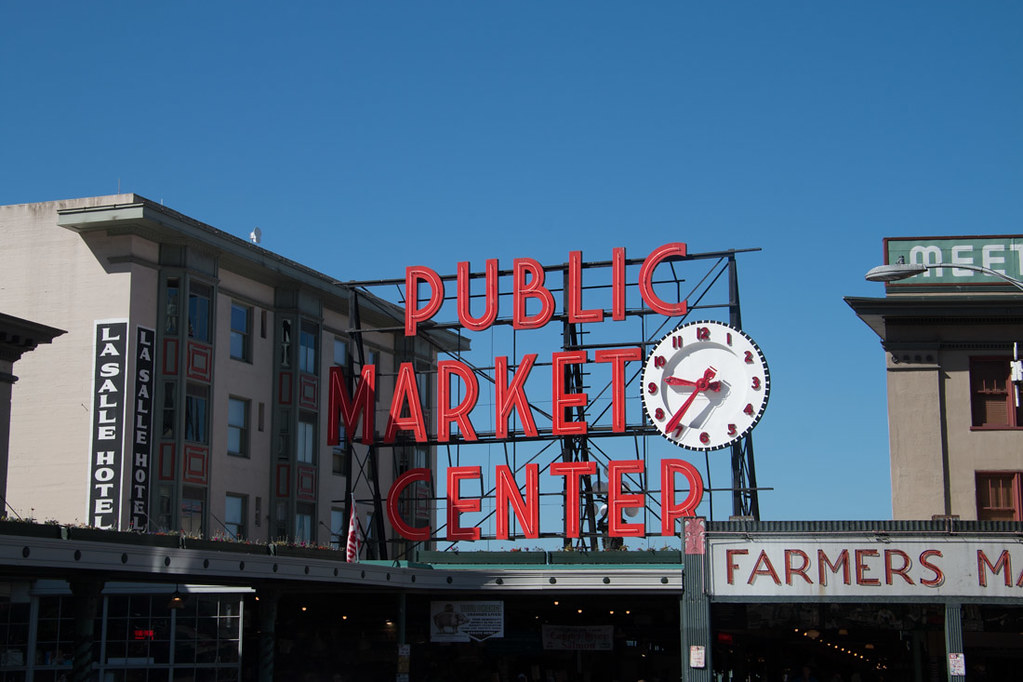Public Market Center sign