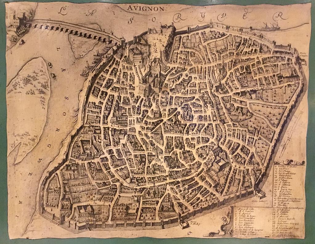 Antik karta av Avignon