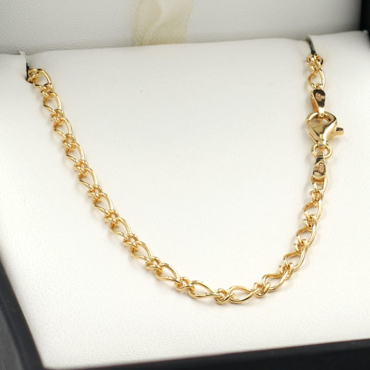 Gold Oval Figaro Chain  for Sale Online - Chain Me Up - Fraser Ross