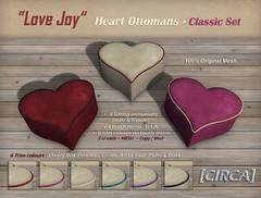 "@ SaNaRae ~ [CIRCA] - ""Love Joy"" - Heart Ottomans - Classic Set"