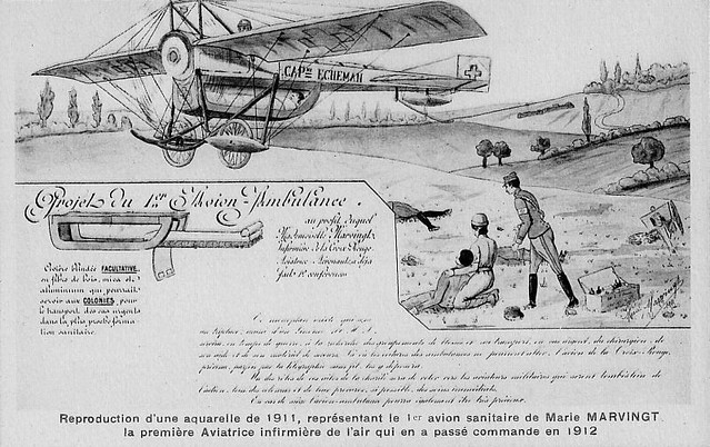 Marie-Marvingt-avion-ambulance