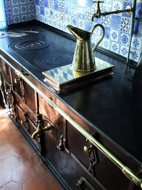 The kitchen in Monet's home in Giverny
