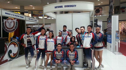 Davao Photos: National University (NU) Pep Squad at SM Davao's University Fair 2015 - DavaoLife.com 20150709_111053