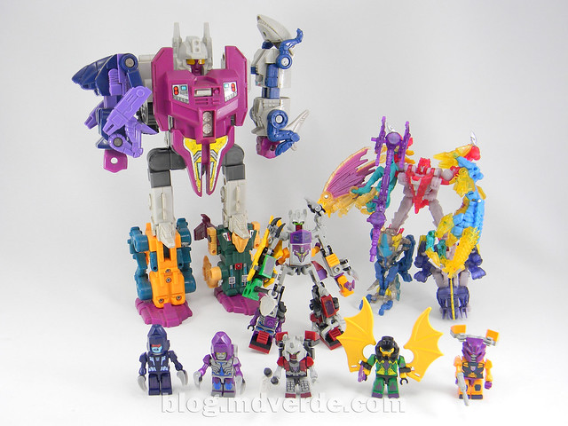 Transformers Abominus Kre-O - modo combinado vs G1 vs Beast Hunters
