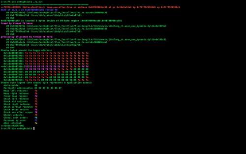 AddressSanitizer - A Fast Memory Error Detector