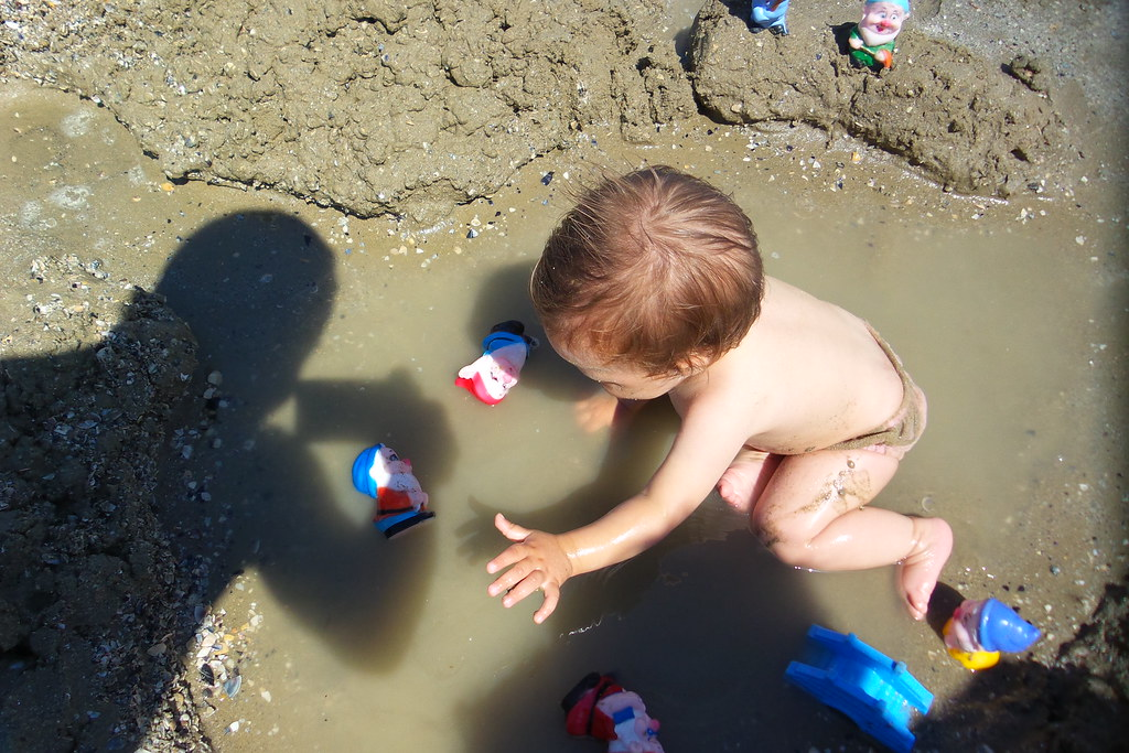 Il gioco tra sabbia, acqua e ombre!