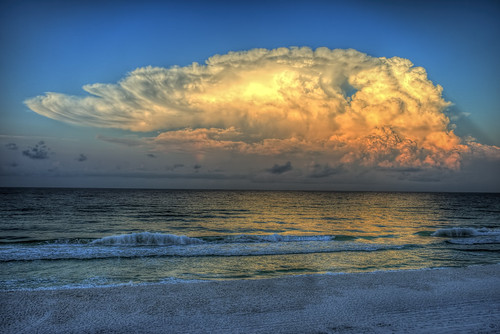 storm beach gulfofmexico sunrise sand waves florida thunderstorm hdr anvilcloud duneallenbeach sonya7ii