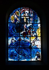 Chagall's Memorial Window, East wall, All Saints Church, Tudeley, Medway valley, Kent