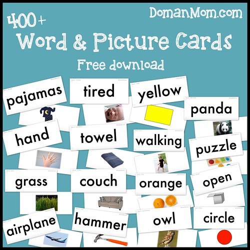 400+ Free Word & Picture Cards