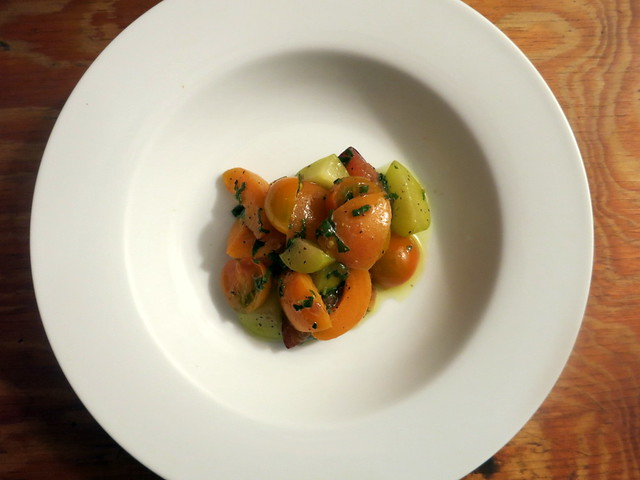 Tomato and stone fruit salad