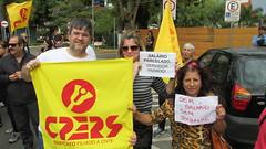 Cpers presente à manifestação