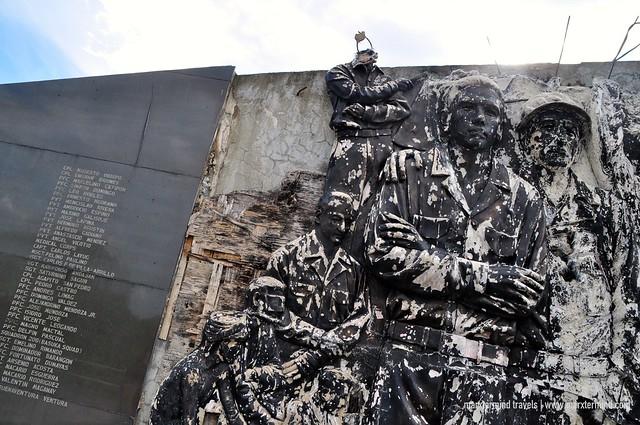 Memorial Wall at Camp Pangatian Shrine