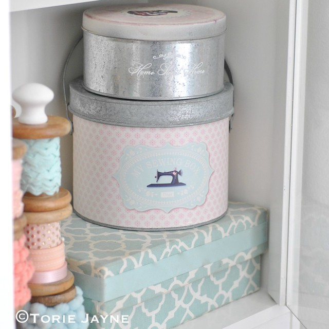 Pretty Sewing Tin