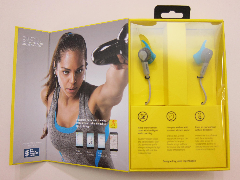 Jabra Sport Coach Wireless Earbuds Review Blog Pace Blue Box Open