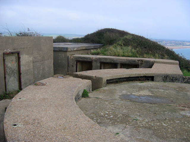 Old World War II buildings at Newhaven