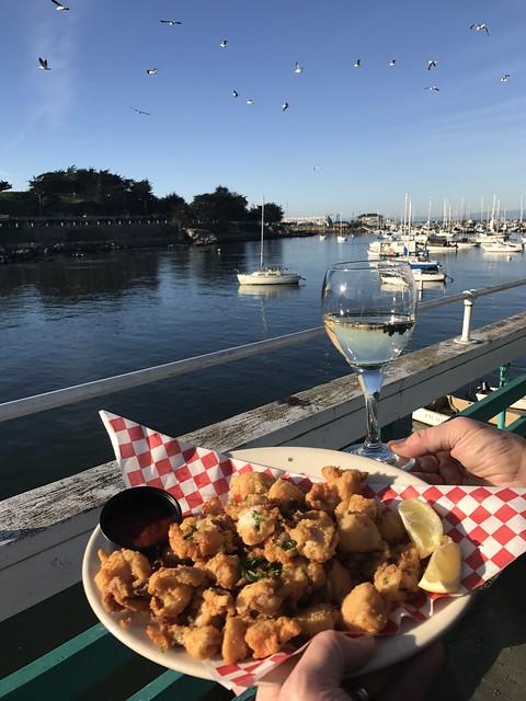 Fried Calamari with a view at Abalonetti Bar & Grill