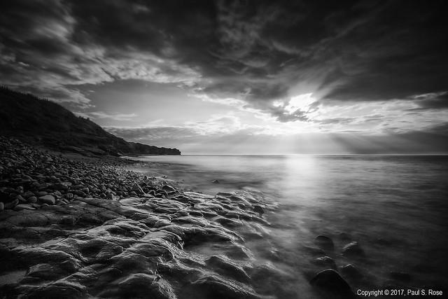 Kilve Beach Mono Sunset