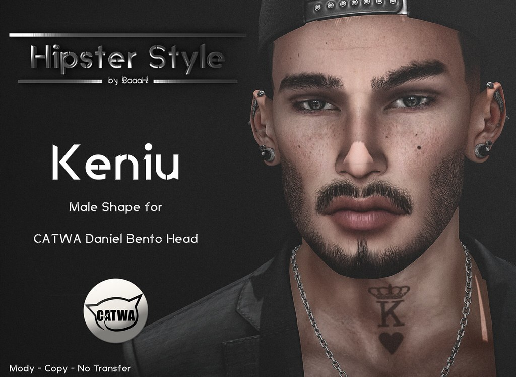 [Hipster Style] Keniu Male Shape for CATWA Daniel Bento Head - SecondLifeHub.com