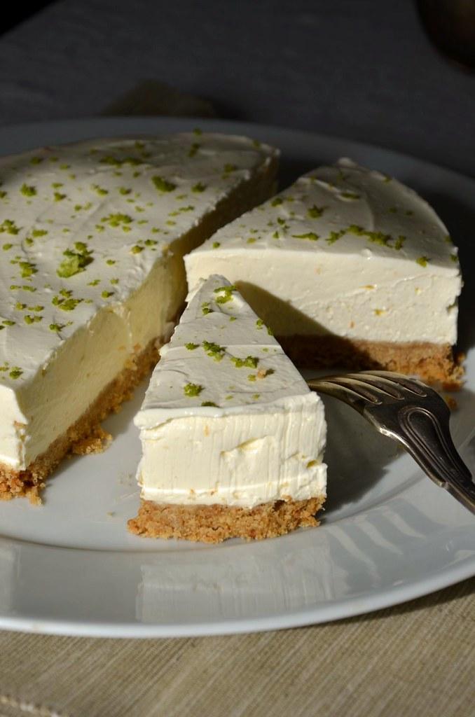 Cheesecake au citron vert sans cuisson