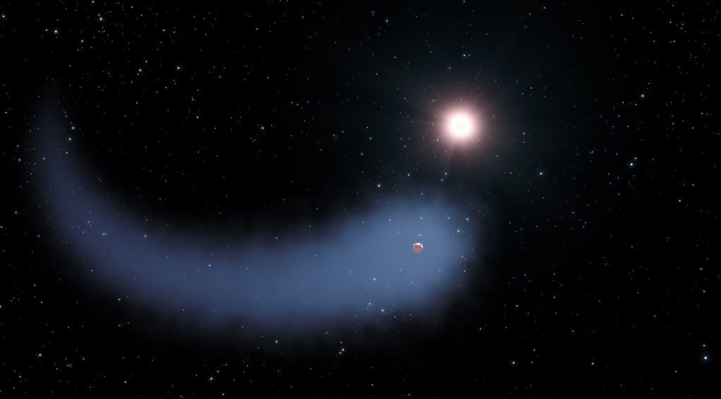 "Hubble Sees a ""Behemoth"" Bleeding Atmosphere Around a Warm Exoplanet"