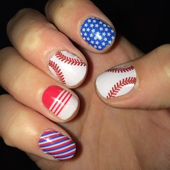 What is on your nails this Fourth of July? These are my nails what do you think?