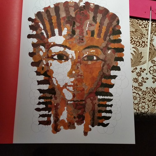 King Tut coloring process