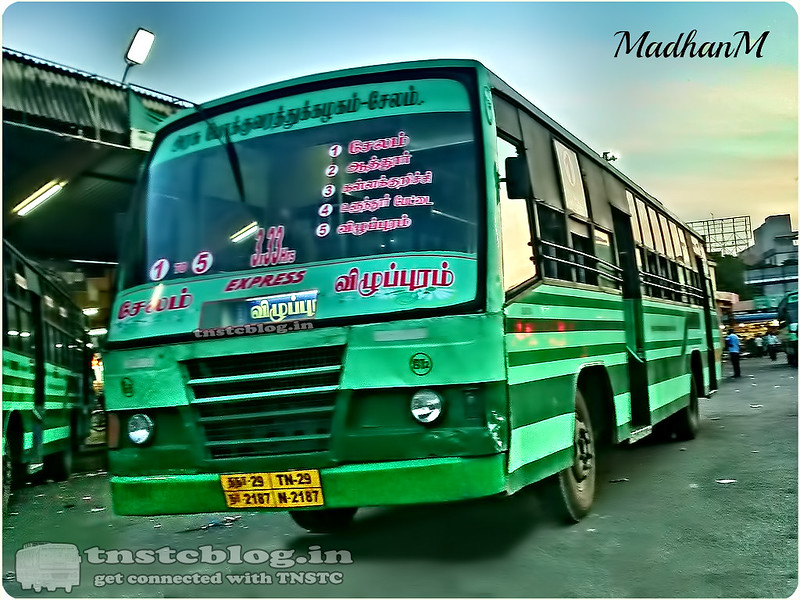 TN-29N-2187 of Johnsonpet 2 Depot Route 3.33 1 to 5 Salem - Villupuram via Attur, Kallakurichi, Ulundurpettai.
