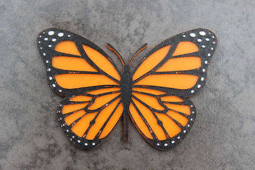 3D Printing - Monarch Butterfly Magnet