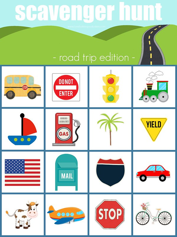 image about Road Trip Scavenger Hunt Printable identified as Street Family vacation Scavenger Hunt Printable - Delight in Bakes Favourable Cakes