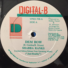 SHABBA RANKS:DEM BOW(LABEL SIDE-A)