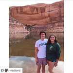 Incoming freshmen Madilyn and Henry showing off their Tulane pride at Lake Powell in Utah! #TulaneSummer #OnlyAtTulane #Tulane