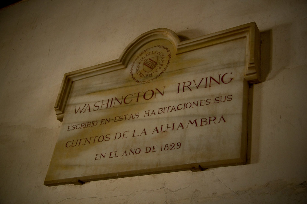Washington Irving Plaque at the Alhambra
