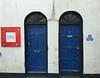 Two Blue Doors