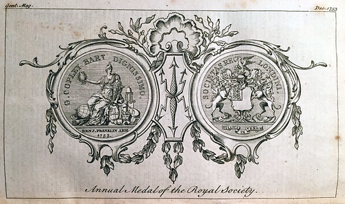 Annual Medal of the Royal Society - Copley Medal