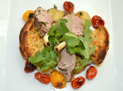 Lamb Cutlets on Lamb Pie & Heritage Tomato