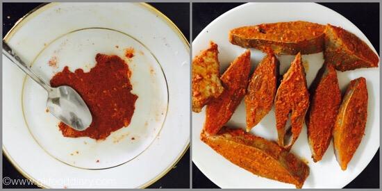 Pomfret Fish fry -step 2