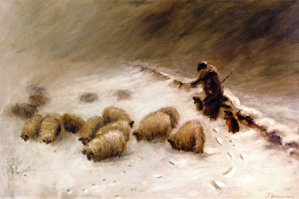 Study for At Freezing Point by Joseph Farquharson