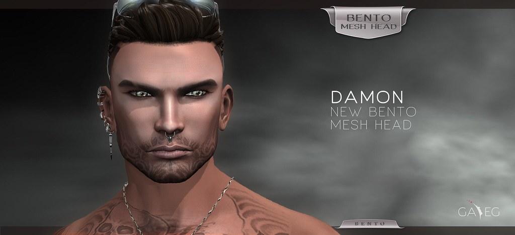 The New GA.EG Damon BENTO Mesh Head is Now Available!!! - SecondLifeHub.com