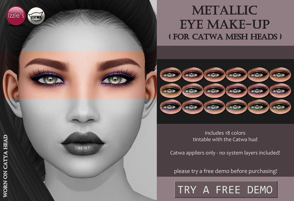 Metallic Eye Make-Up (Catwa) - SecondLifeHub.com