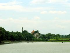 Menara Masjid Terlihat Dari Seberang Situ Babakan