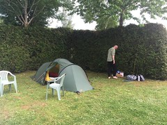 Setting up camp