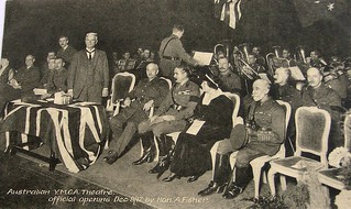Official opening of the Australia Y.M.C.A. theatre, Aldwych, England - 8 December 1917 by Hon. A. Fisher