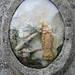 Statue of the Virgin Mary, under glass - cemetery near Barra by Monceau