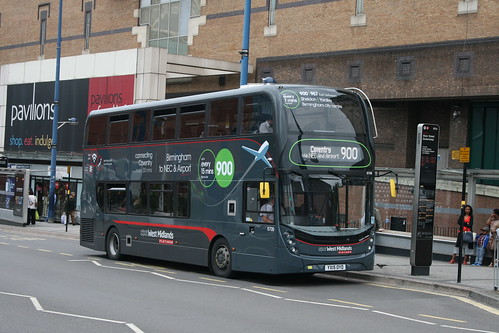 National Express West Midlands 6709 on Route 900, Moor Street